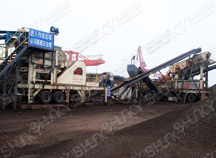江苏镇江铁矿石破碎生产线
