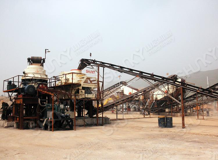 青海湟中河、鹅卵石时产150吨制砂生产线