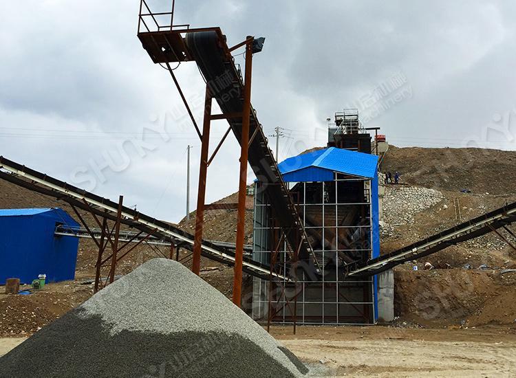 甘肃嘉峪关破碎石制砂生产线