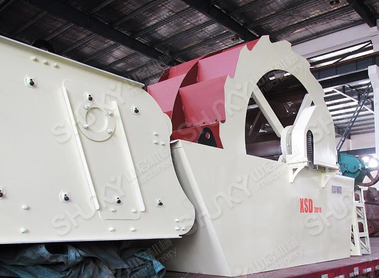 2016年2月湖北鄂州制砂机洗砂机发货
